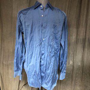Ermenegildo Zegna Classic Blue Dress Shirt EUC15.5